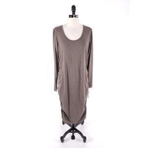 Isabella Oliver Ruched Midi Maternity Dress